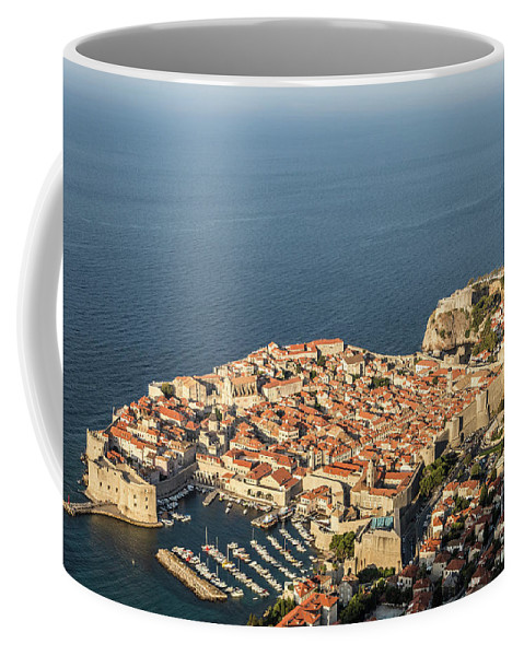 Ancient Coffee Mug featuring the photograph Dubrovnik And The Adriatic Coast In Croatia by Didier Marti