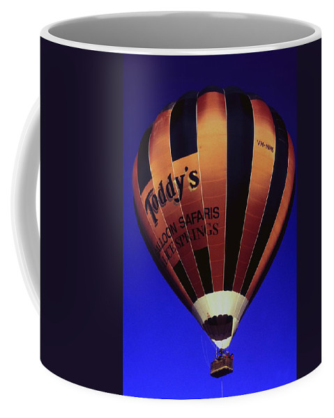 Australia Coffee Mug featuring the photograph Early Morning Balloon Ride by Gary Wonning