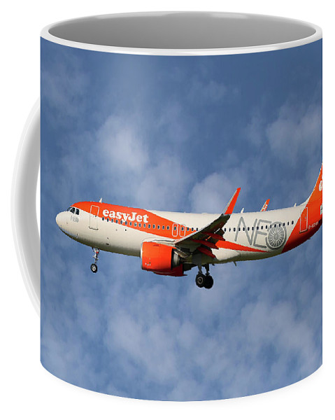 Easyjet Coffee Mug featuring the photograph Easyjet Airbus A320-251n by Smart Aviation
