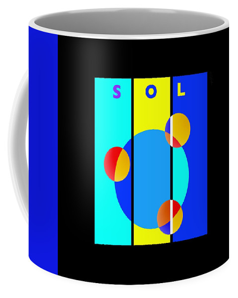 Primary Colors Coffee Mug featuring the painting Eclipse by Charles Stuart