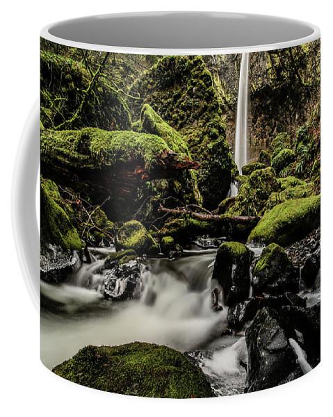 Elowah Falls Coffee Mug featuring the photograph Elowah Falls by Vinnie Halpin