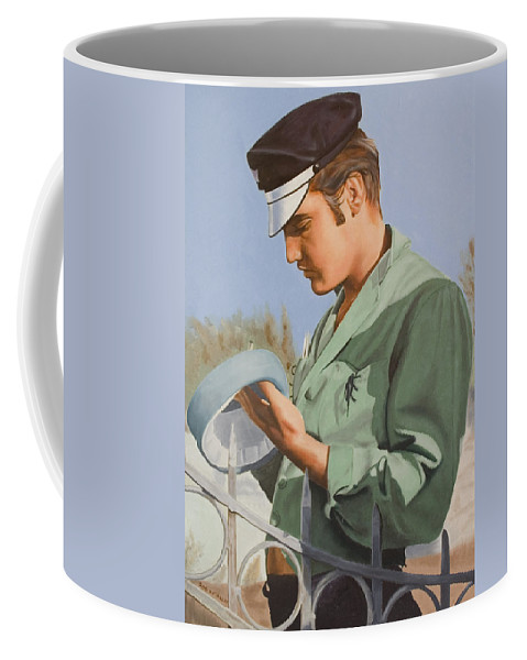 Singer Coffee Mug featuring the painting Elvis Presley by Rob De Vries