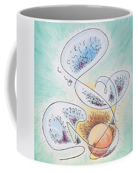 Abstract Coffee Mug featuring the painting Emilys Transit by Dave Martsolf