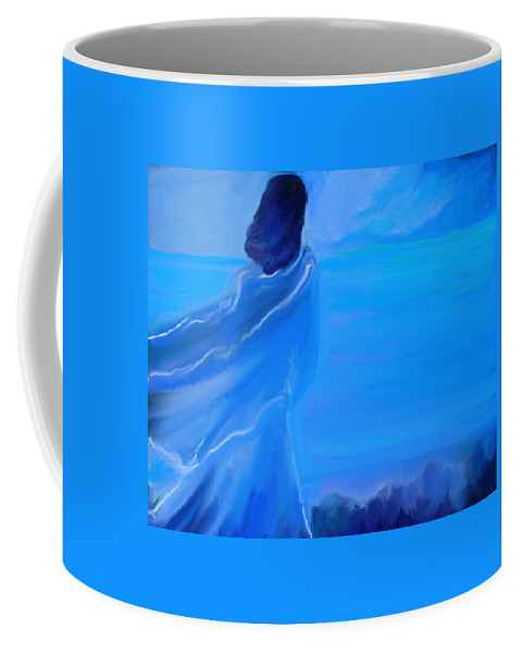 Impressionism Coffee Mug featuring the painting En Attente by Aline Halle-Gilbert