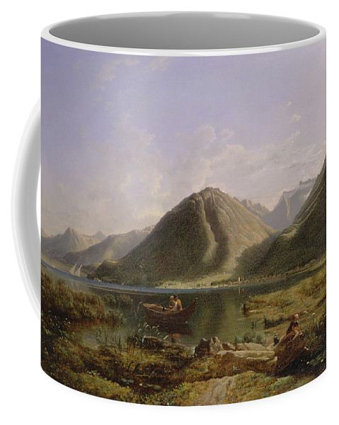 Francis Danby Coffee Mug featuring the painting End Of Lake Geneva by Francis Danby