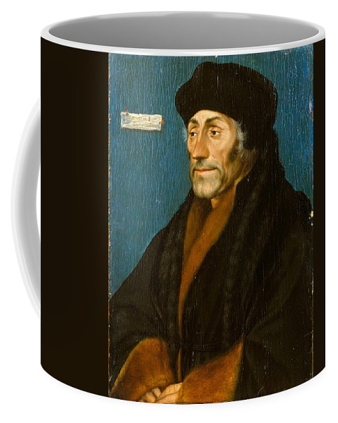 Hans Holbein The Younger Coffee Mug featuring the painting Erasmus Of Rotterdam by Hans Holbein the Younger