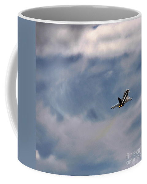 Eurofighter Typhoon Coffee Mug featuring the photograph Eurofighter Typhoon by Angel Ciesniarska