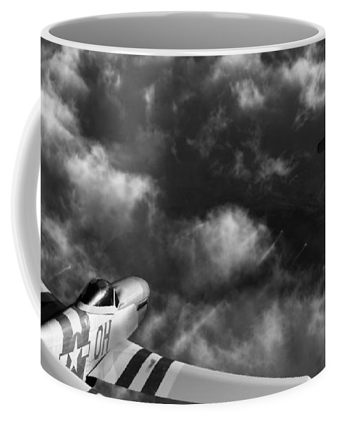 Warbirds Coffee Mug featuring the digital art Evade by Richard Rizzo
