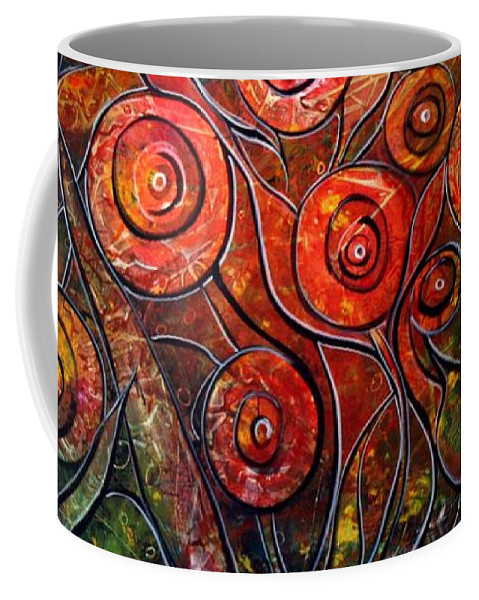 Exotic Coffee Mug featuring the painting Exotic Foliage by Luiza Vizoli