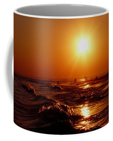 Sunset Coffee Mug featuring the photograph Extreme Blazing Sun by Kendall Eutemey