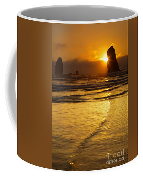 The Needles Coffee Mug featuring the photograph Eye Of The Needle by Mike Dawson