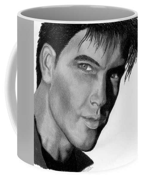 Male Coffee Mug featuring the drawing Eyes by Kristen Wesch