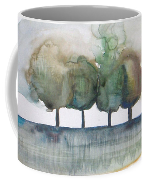 Trees Coffee Mug featuring the painting Family Trees by Vesna Antic