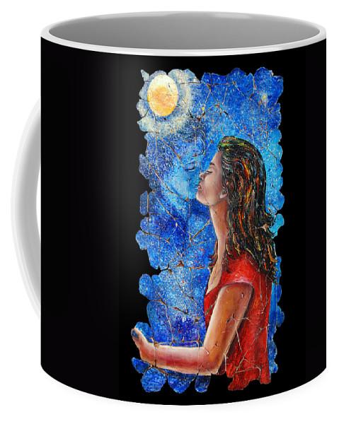 Adieu Coffee Mug featuring the painting Farewell 2 by OLena Art Lena Owens