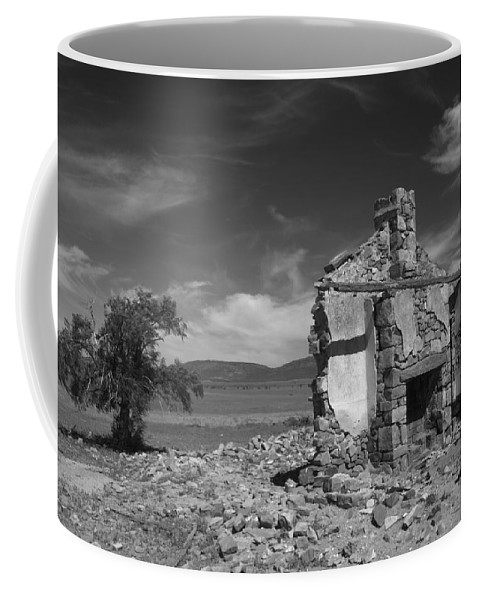 Cottage Coffee Mug featuring the photograph Farmhouse Cottage Ruin Flinders Ranges South Australia by Ralph A Ledergerber-Photography