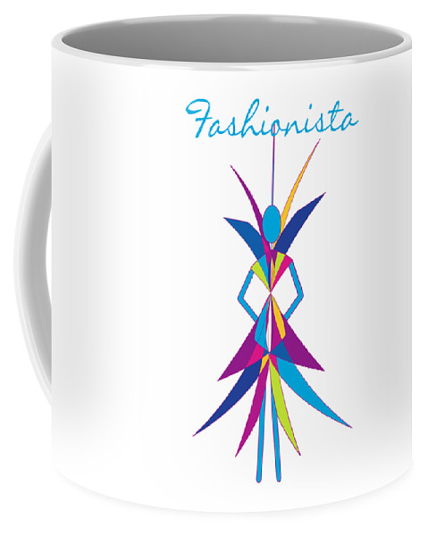Fashionista Coffee Mug featuring the digital art Fashionista by Methune Hively