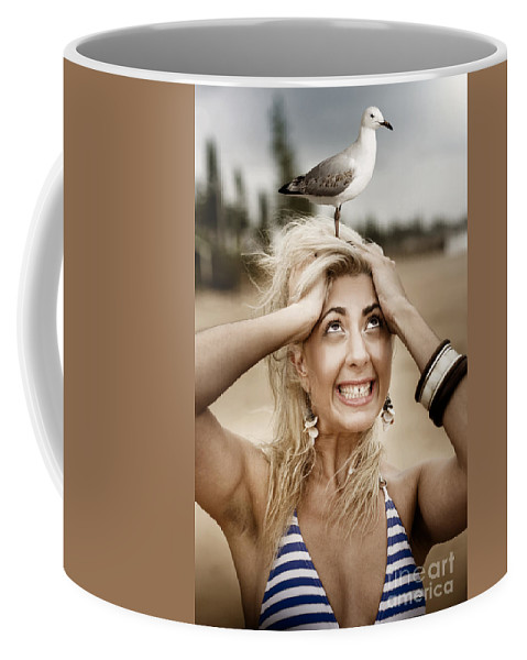 Seagull Coffee Mug featuring the photograph Fear by Jorgo Photography - Wall Art Gallery