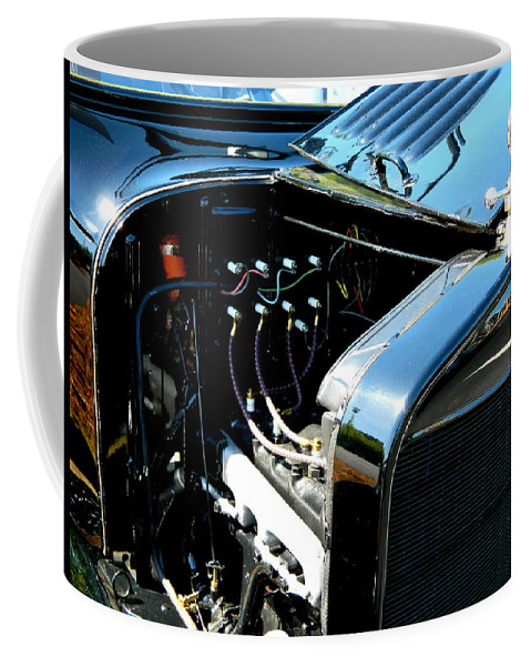 Carshow Coffee Mug featuring the photograph Female View At A Car Show by Arlane Crump
