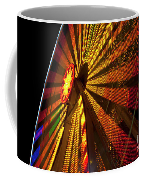 Ferris Wheel Coffee Mug featuring the photograph Ferris Wheel At Night by Anthony Totah