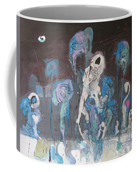 Fiddleheads Paintings Coffee Mug featuring the painting Fiddleheads 3 by Seon-Jeong Kim