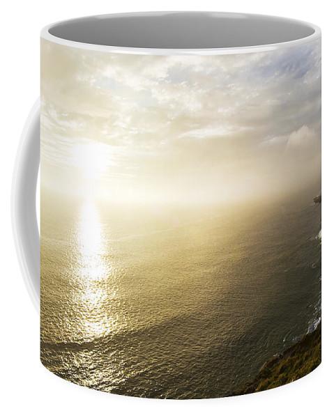 Sunrise Coffee Mug featuring the photograph Filey Brig by Svetlana Sewell