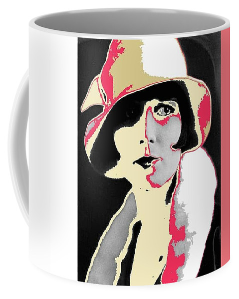 Film Homage Louise Brooks In Flapper Hat 1927-2013 Coffee Mug featuring the photograph Film Homage Louise Brooks In Flapper Hat 1927-2013 by David Lee Guss