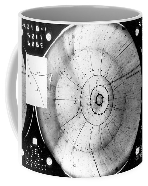 Science Coffee Mug featuring the photograph First Neutrino Interaction, Bubble by Science Source