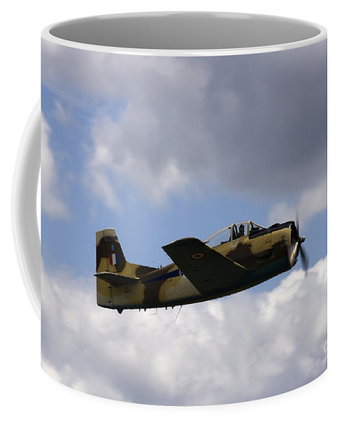Airshow Coffee Mug featuring the photograph Flying High by Angel Ciesniarska