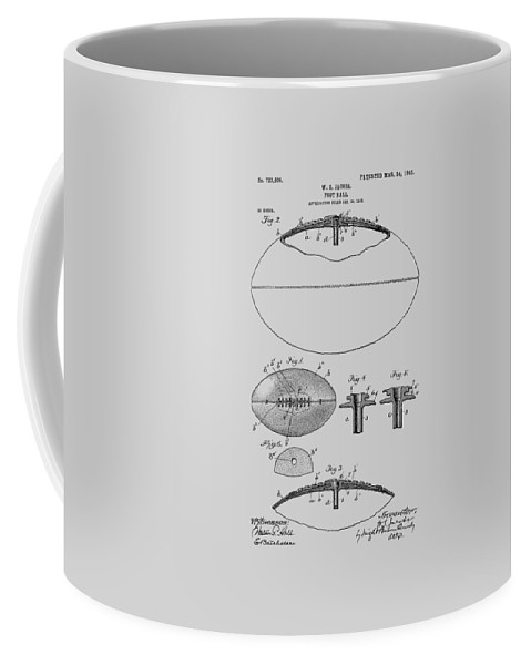 American Football Coffee Mug featuring the photograph Football Patent Drawing From 1903 by Chris Smith