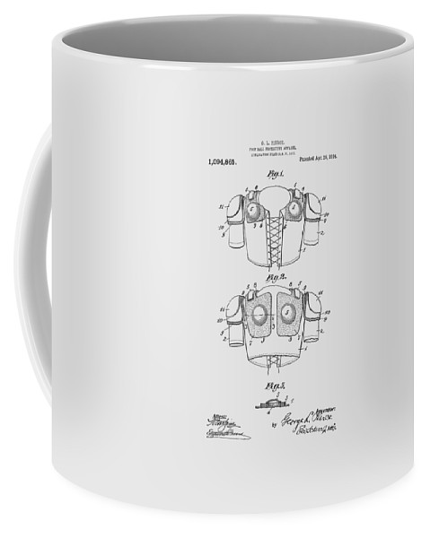 Football Coffee Mug featuring the photograph Football Shoulder Pads Patent 1913 by Chris Smith