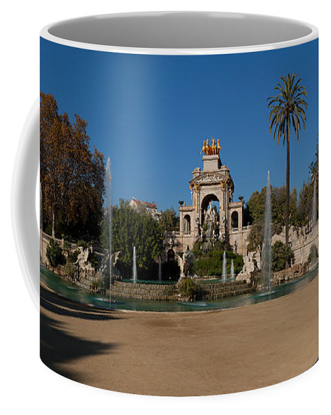 Photography Coffee Mug featuring the photograph Fountain In A Park, Parc De La by Panoramic Images
