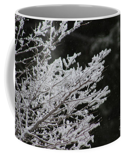 Winter Coffee Mug featuring the photograph Frozen Branches by LKB Art and Photography