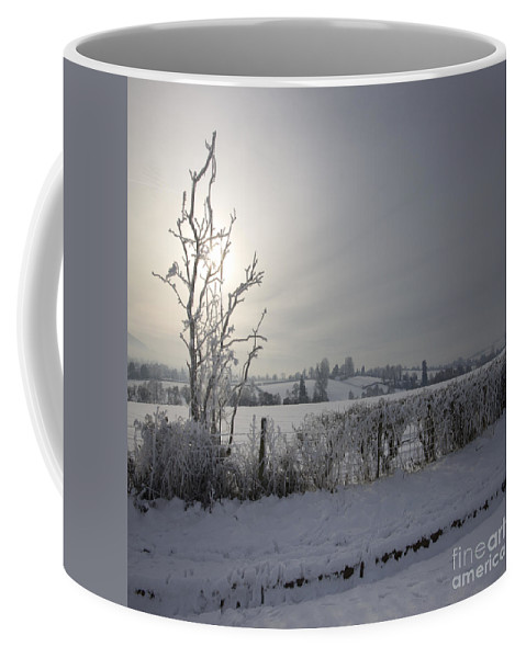 Winter Coffee Mug featuring the photograph Frozen Britain by Angel Ciesniarska
