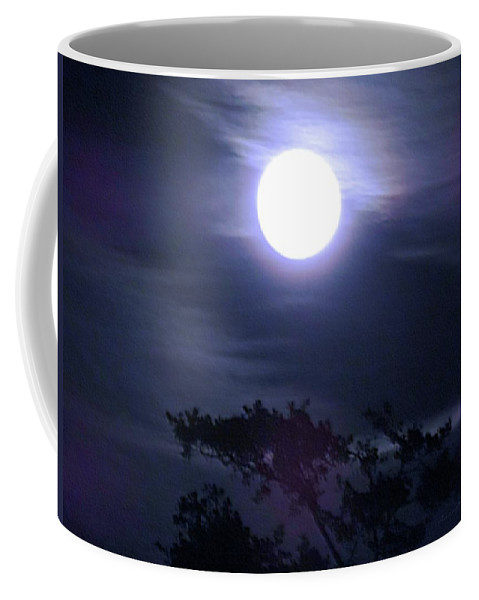 Night Coffee Mug featuring the digital art Full Moon Falling by Vincent Green