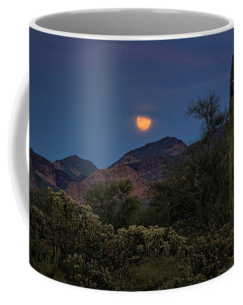 Full Moon Coffee Mug featuring the photograph Full Moon Rising by Saija Lehtonen