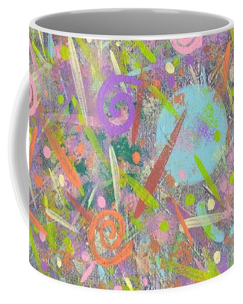 Abstract Coffee Mug featuring the painting Funfetti by Jill Christensen