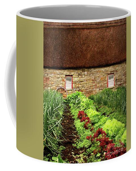 Farm Coffee Mug featuring the digital art Garden Farm by Vicki Lea Eggen