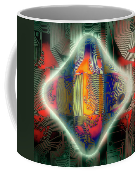 Abstract Coffee Mug featuring the photograph Ghost In The Machine by Wayne Sherriff