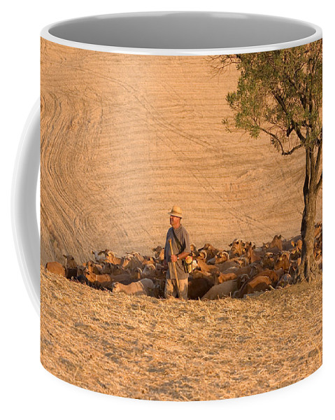 Goat Coffee Mug featuring the photograph Goatherd by Mal Bray