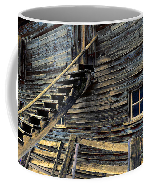 Architecture Coffee Mug featuring the photograph Golden Barn by Wayne Sherriff