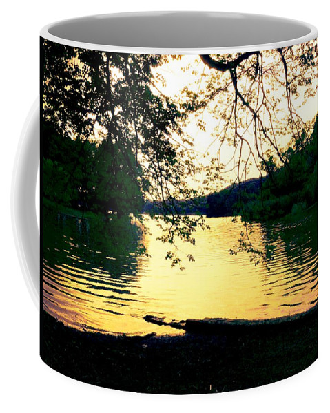 Landscape Coffee Mug featuring the photograph Golden Days by Kendall Eutemey