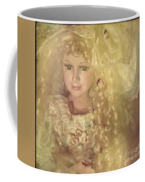 Toy Coffee Mug featuring the photograph Golden Fairy by Angel Ciesniarska