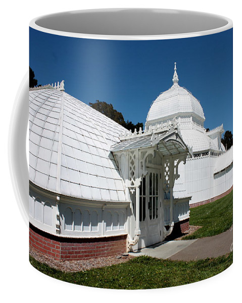 Victorian Coffee Mug featuring the photograph Golden Gate Conservatory by Carol Groenen
