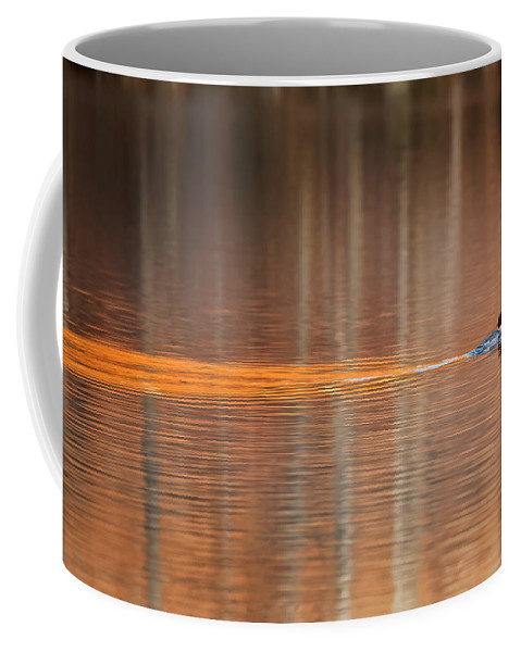 Reflection Coffee Mug featuring the photograph Golden Trail 2015 by Bill Wakeley