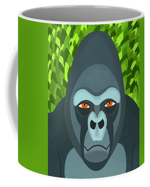 Gorilla Coffee Mug featuring the digital art Gorilla by Nicole Wilson