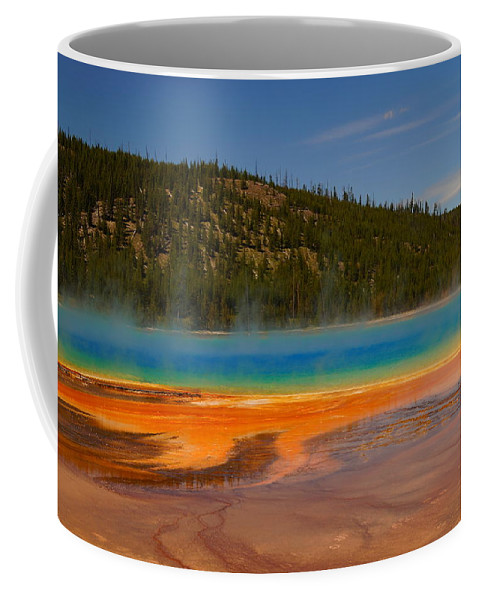 Colorful Coffee Mug featuring the photograph Grand Prismatic Pool IIi by Beth Collins