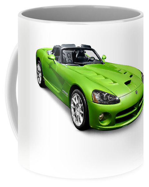 Dodge Viper Coffee Mug featuring the photograph Green 2008 Dodge Viper Srt10 Roadster by Oleksiy Maksymenko