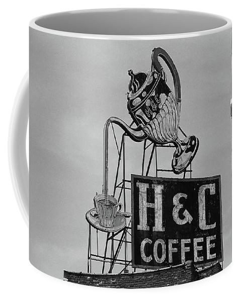 America Coffee Mug featuring the photograph H C Coffee by Frank Romeo
