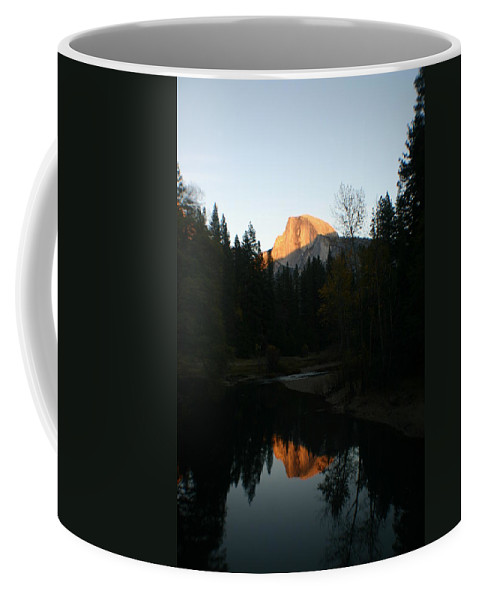 Half Dome Coffee Mug featuring the photograph Half Dome Sunset by Travis Day
