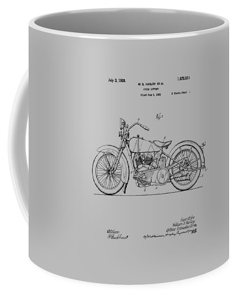 Harley Davidson Coffee Mug featuring the photograph Harley Davidson Motorcycle Patent 1925 by Chris Smith